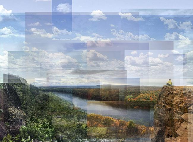 William Van Beckum compilation of photos of Chauncey Peak from Giuffrida Park