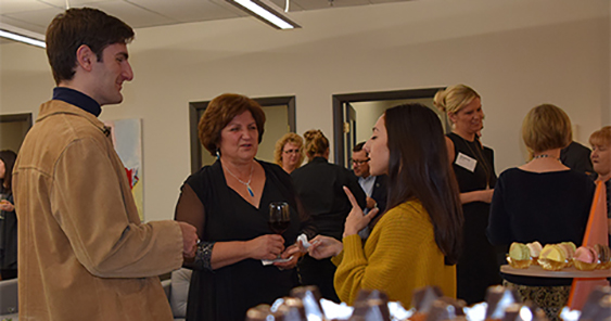 Guests enjoying themselves at the Factory Mark Gallery grand opening